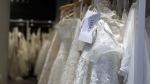 Bridal gown sellers are concerned about supply shortages because of China's coronavirus outbreak.