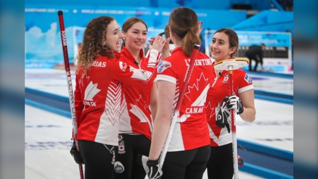 Team Zacharias wins gold in Russia. (Source: Curling Canada/Twitter)