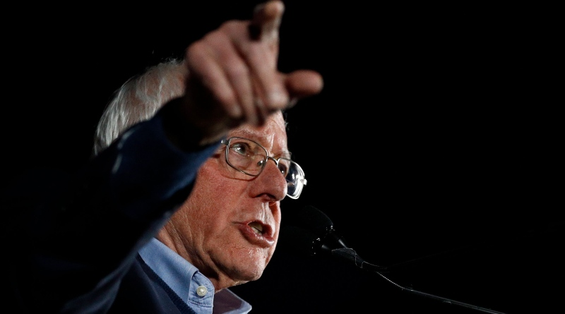 Democratic presidential candidate Sen. Bernie Sanders, I-Vt., speaks during a campaign event at Springs Preserve in Las Vegas, Friday, Feb. 21, 2020. (AP Photo/Patrick Semansky)