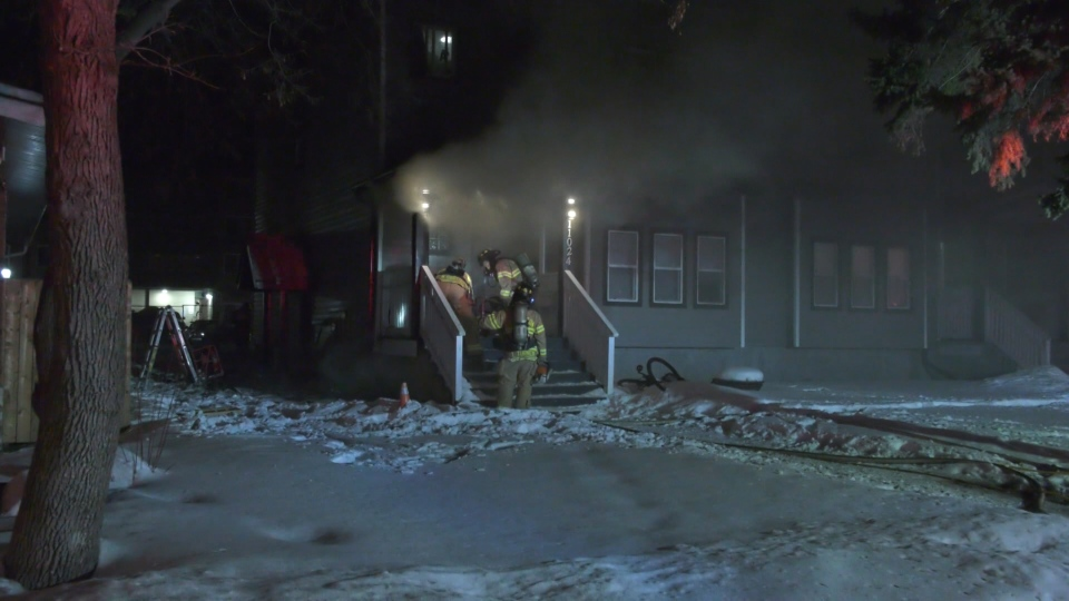 Crews battled a blaze at a home in the area of 110th Avenue and 123rd Street late Friday evening.