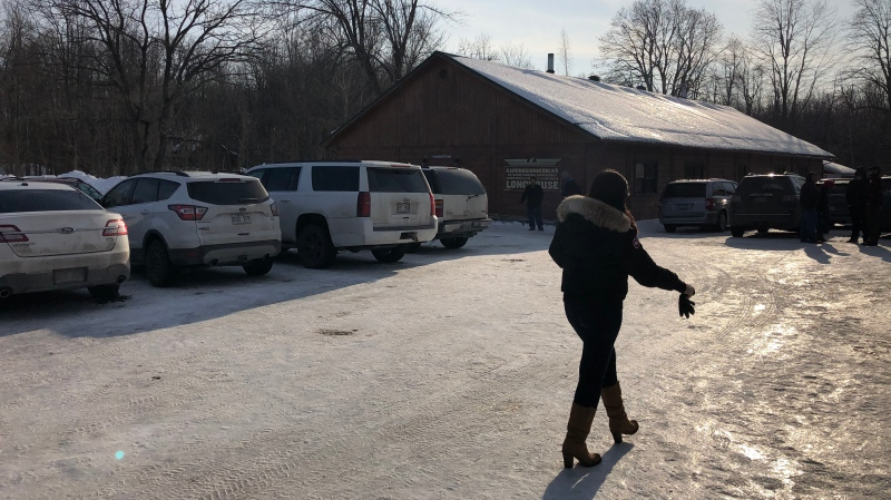Traditional chiefs of the Wet'suwet'en First Nation have arrived in Kahnawake, Que., as they continue their tour of Mohawk communities in eastern Canada where rail blockades in solidarity with their cause have been erected.