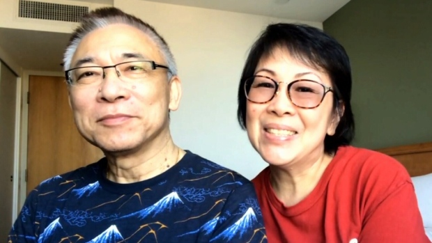 Diane and Allan Chow speak with CTV News Toronto from a room at the Cornwall NAV Centre where they remain in quarantine.