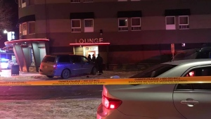 Police investigate after a fatal shooting in Lloydminster on Feb. 21, 2020. (Credit: Prime Time Local News)