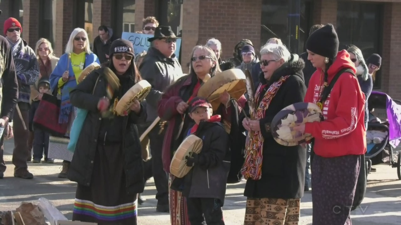 Solidarity rally held in Orillia