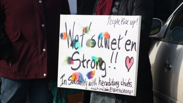 Regina protest speaks out against Scheer's comments on rail line blockades