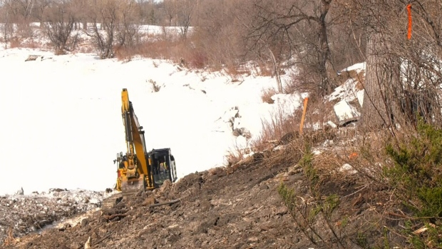 Red River flooding repairs