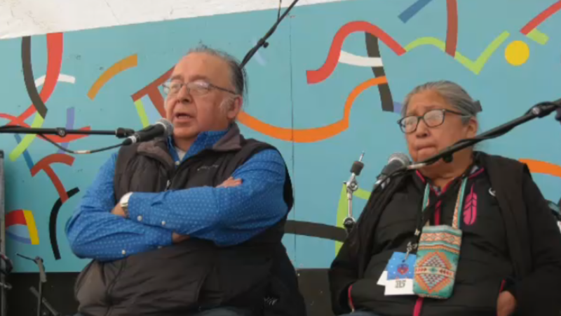 Indigenous elders hosted an intimate story telling activity at Festival du Voyageur.