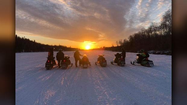 Saturday Sunset Bird River. Photo by Tom Wegier.