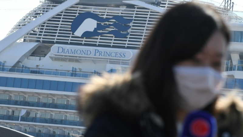 The coronavirus cluster detected on the Diamond Princess cruise ship is by far the biggest cluster of cases outside mainland China. (AFP)