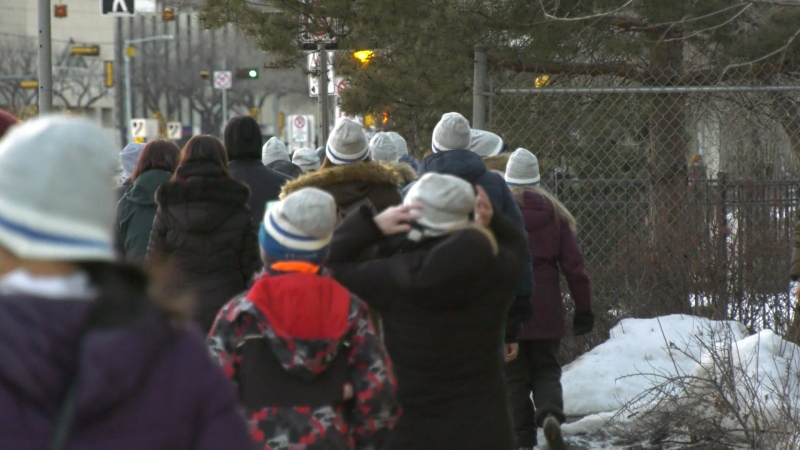 Hundreds of Edmontonians bundled up for the third annual Coldest Night of the Year fundraiser on Saturday.