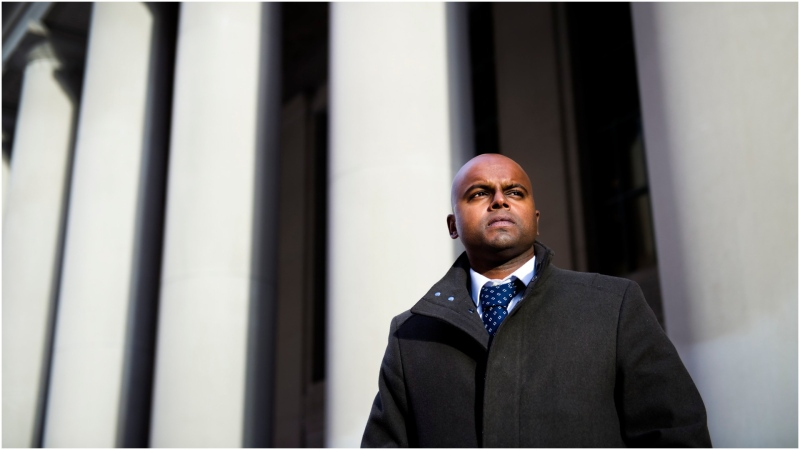 Rohan George poses for a photograph in Toronto on Thursday, February 20, 2020. George, a one-time gang member who admitted to stabbing a perceived rival in the back and leaving the victim in a park to die, has turned his life around to the point where he has now won permission to practise as a lawyer. THE CANADIAN PRESS/Nathan Denette