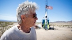 In this March 6, 2018, file photo, 'Mad' Mike Hughes reacts after the decision to scrub another launch attempt of his rocket near Amboy, Calif. (James Quigg/Daily Press via AP, File)