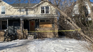 A woman was injured during a house fire in the 1400 block of Elphinstone St.