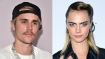 Cara Delevingne isn't happy with Justin Bieber. (Getty Images)