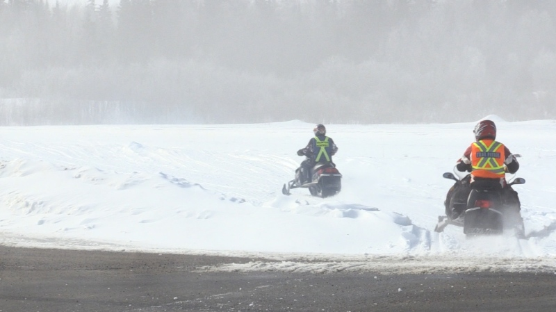 Roughly 40 snowmobiles hit the trails for the Greater Sudbury Police Torch Ride.  The event will raise funds in order to provide quality sports and training programs, for youth and adults with disabilities. (Feb.23 /2020)