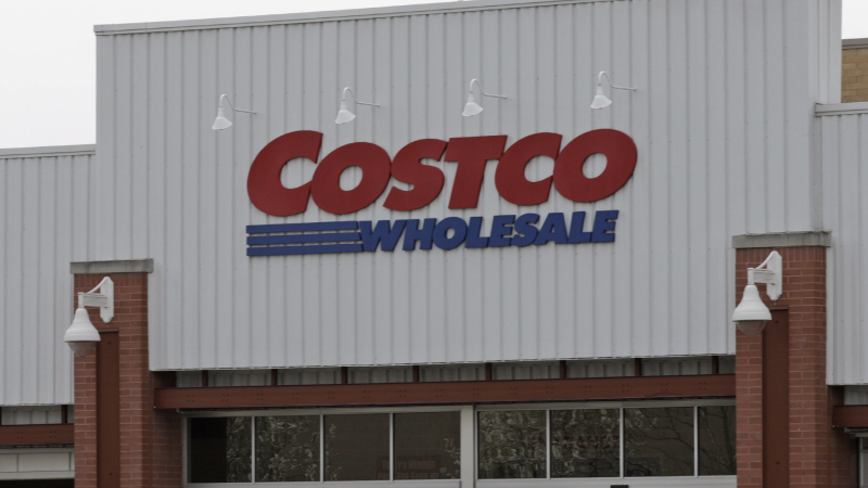 FILE - In this April 11, 2019, file photo people shop at a Costco store in Homestead, Pa. The Gap Inc. reports financial results Thursday, May 30, 2019. (AP Photo/Gene J. Puskar, File)