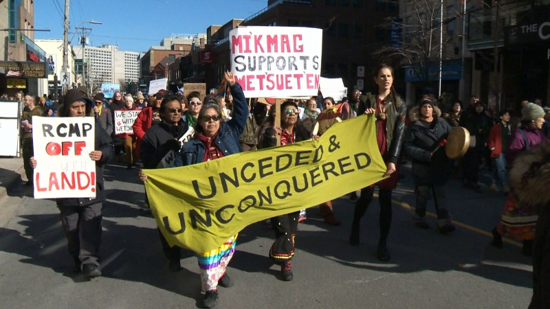 Halifax protest supports Wet'suwet'en First Nation