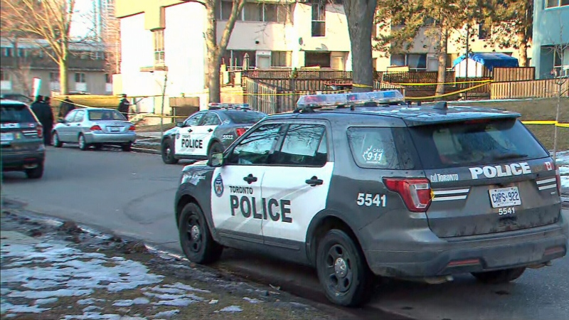 """Toronto police are investigating a """"targeted"""" shooting in East York that left a woman seriously injured Sunday. (CTV News Toronto)"""