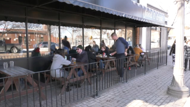Patio weather in February? Diners take advantage of winter to eat outside.
