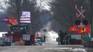 Rail blockades enter third week