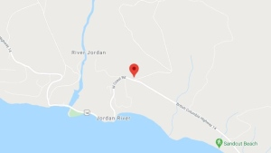 Juan de Fuca Search and Rescue is looking for the missing people west of Sooke, setting up their staging area near the intersection of West Coast Road and Fore Bay Road. (Google Maps)