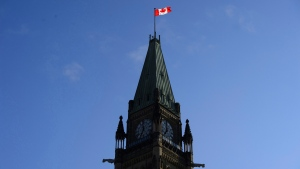 The Peace Tower on Parliament Hill in Ottawa on Tuesday, May 29, 2018. THE CANADIAN PRESS/Sean Kilpatrick