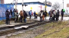 New blockade blocks rail service for hours