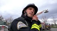 Delta firefighter sprints