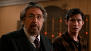 Al Pacino and Logan Lerman in star in 'Hunters.' The Auschwitz Memorial has criticized Amazon for what it says are false depictions of the concentration camp in the show. (Christopher Saunders/Amazon Studios, Prime Video)