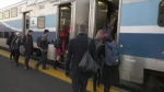 Commuter train services from Mont-Saint-Hilaire are back up and running after demonstrators withdrew their protest at the Canadian National railroad in Saint-Lambert.