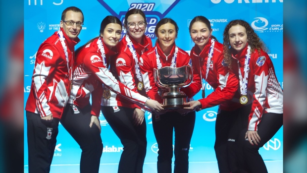 Manitoba junior curlers return home after double gold win for Canada in Russia
