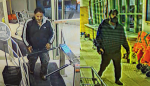 Guelph police are searching for two men after close to $200 worth of alcohol was stolen.