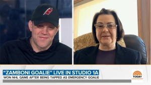 David Ayres and his mother, Mary, during a live appearance on NBC's 'Today' show on Monday, Feb. 24, 2020 (Source: NBC / Today.com)