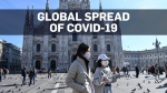 Confirmed coronavirus cases in at least 28 countri