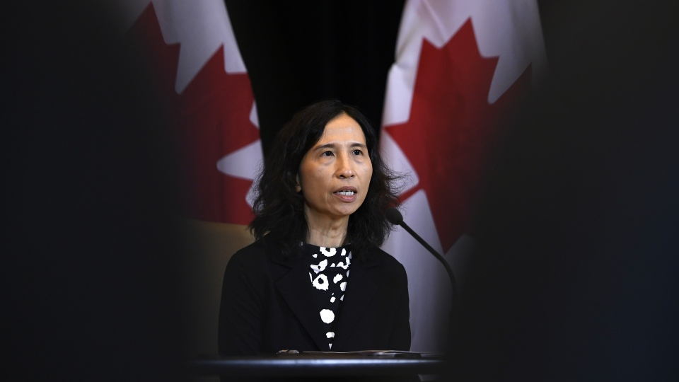 Chief Public Health Officer of Canada Dr. Theresa Tam speaks at a press conference in Ottawa, on Sunday, Jan. 26, 2020. (THE CANADIAN PRESS/Justin Tang)