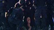 Police move in on rail blockade