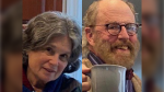 In these undated photos released by the Marin County Sheriff's Office are Carol Kiparsky and Ian Irwin. The academic couple who vanished during a getaway in the woods of Northern California were found Saturday, Feb. 22, 2020, by search-and-rescue workers who spent almost a week looking for them and gave up hopes of finding them alive. The Marin County Sheriff's office tweeted that two helicopter crews airlifted Kiparsky, 77, and Irwin, 72, to a hospital. Authorities did not immediately provide details on their conditions and where they were located. (Marin County Sheriff's Office via AP, File)