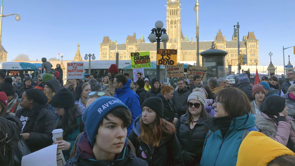 Solidarity rally and march in Ottawa