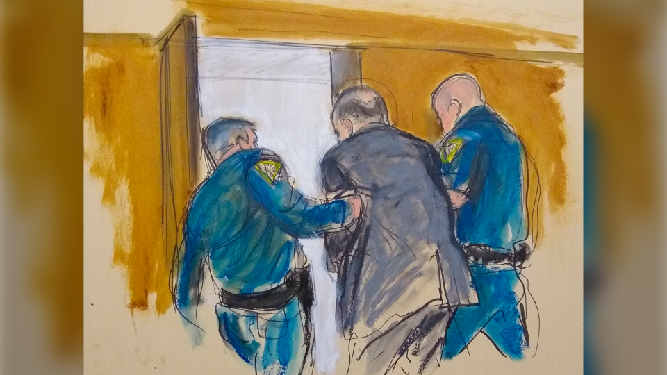 Courtroom sketch Weinstein