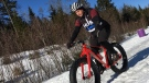 Mike Knowlton organizes group trail rides in Truro's Victoria Park, which has over 30 kilometres of groomed trails -- perfect for fat bikes.