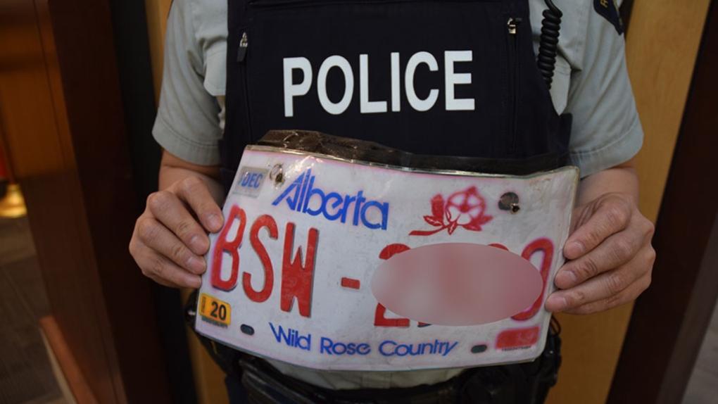 Photocopy, photocopied, licence plate, Alberta,