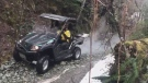 One of the two search-and-rescue UTVs [utility terrain vehicles] deployed to search for the missing hikers is pictured: Feb. 2020 (CTV News)