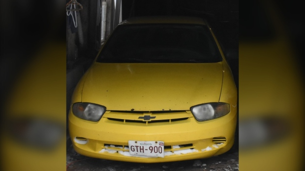 Police believe the victim was driving a yellow 2005 Chevrolet Cavalier coupe in the Sainte-Marie-De-Kent and Bouctouche areas the day before he was found dead. (New Brunswick RCMP)