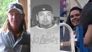From left, Justin Thompson, Floyd Deleary and Murray Davis all died at the Elgin-Middlesex Detention Centre.