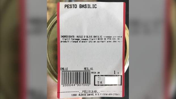 Food recall: Pesto produced by Montreal company was not prepared and packaged safely