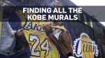 A fan pays respects at a mural depicting Kobe Bryant in a downtown Los Angeles alley after word of the Lakers star's death in a helicopter crash, in downtown Los Angeles Sunday, Jan. 26, 2020. (AP Photo/Matt Hartman)
