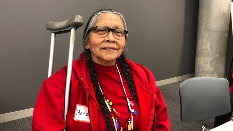 Mona Stonefish is with the Anishinaabe tribe, which is of the three fires of confederacy - Ojibwae, Odawa and Potawatomi, in Windsor, Ont., on Monday, Feb. 24, 2020. (Melanie Borrelli / CTV Windsor)