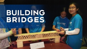 SHOW AND TELL: Building a popsicle stick bridge