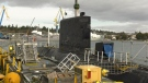 HMCS Victoria undergoes testing in Esquimalt, B.C. on Feb. 24, 2020, ahead of its planned deployment (CTV News)