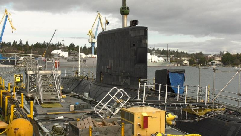 HMCS Victoria undergoes testing in Esquimalt, B.C. on Feb. 24, 2020, ahead of its planned deployment (CTV News)